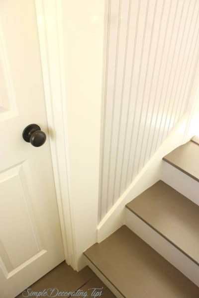 new basement steps door