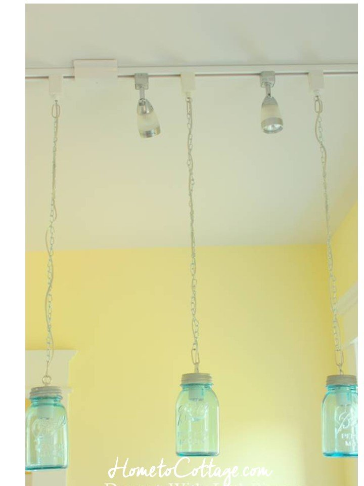 HometoCottage.com 3 canning jar pendants diy