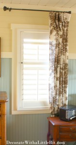 HometoCottage.com shutters with drapery
