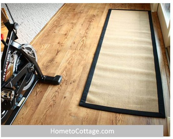 HometoCottage.comm laminate floor done with rug