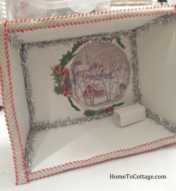 7 HomeToCottage.com diorama support box and trim on