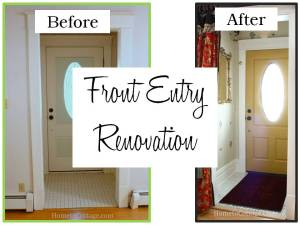 HometoCottage.com Front Entry Renovation Before and After