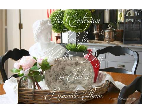 HometoCottage.com Valentine's Centerpiece