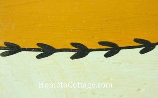 HometoCottage.com DIY bird detail with paint pen
