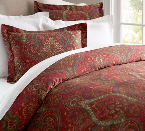 HomeToCottage.com Pottery Barn Mira Paisley Duvet Cover Sham