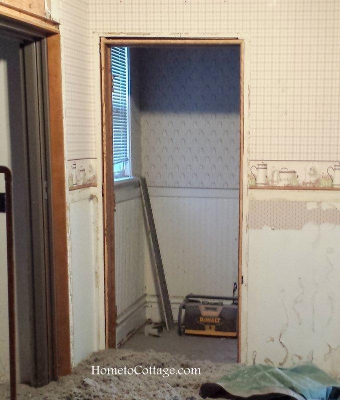 HometoCottage.com powder room during renovations