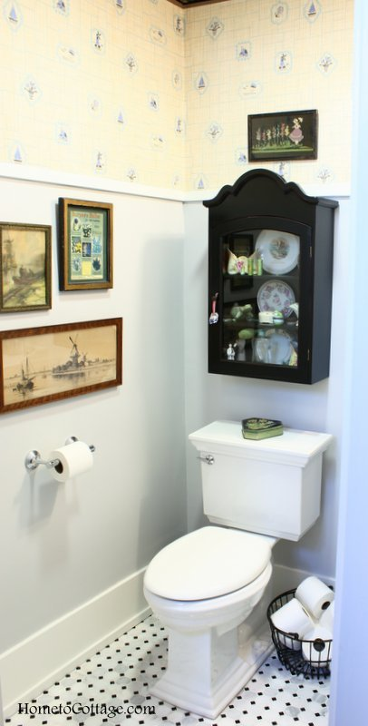 HometoCottage.com New Powder Room