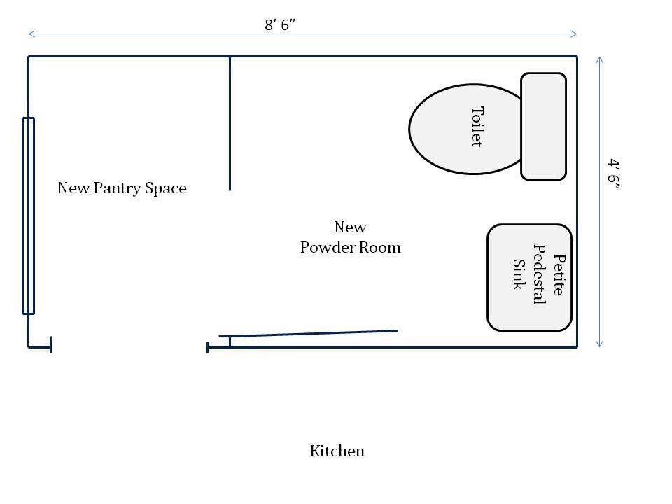 HometoCottage.com new powder room floorplan