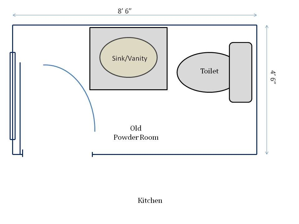 HometoCottage.com old powder room floorplan
