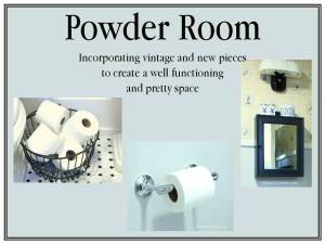 HometoCottage.com powder room renovation
