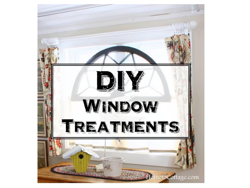 HometoCottage.com DIY window treatments in Breakfast Room