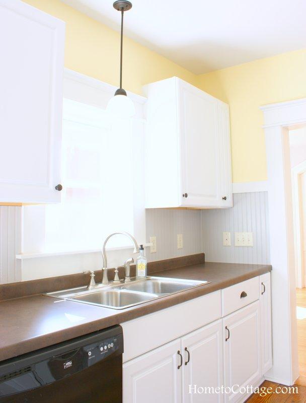 HometoCottage.com brick cottage farmhouse style kitchen 3
