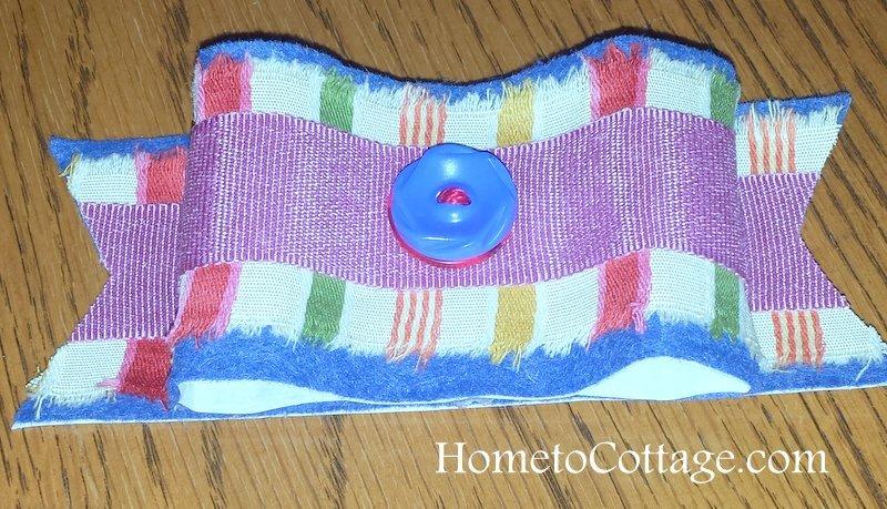 HometoCottage.com felt and fabric bow