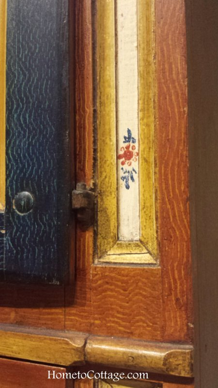 HometoCottage.com Norwegian cupboard hinge detail