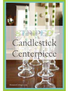 HometoCottage.com Striped Candlestick Centerpiece title page