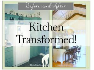 HometoCottage.com kitchen transformation before and after