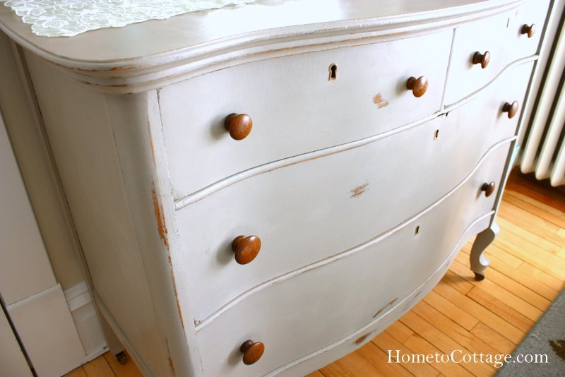 HometoCottage.com dresser with chalk paint