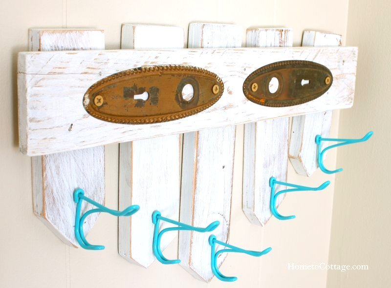 HometoCottage.com picket fence wall hooks done