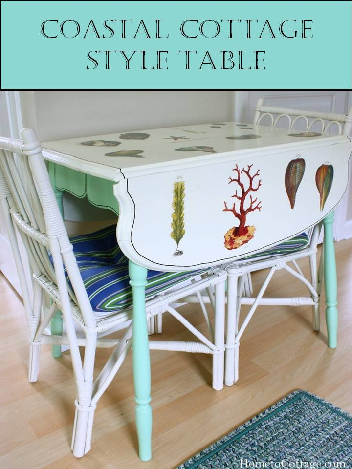 HometoCottage.com Coastal Cottage Style Table