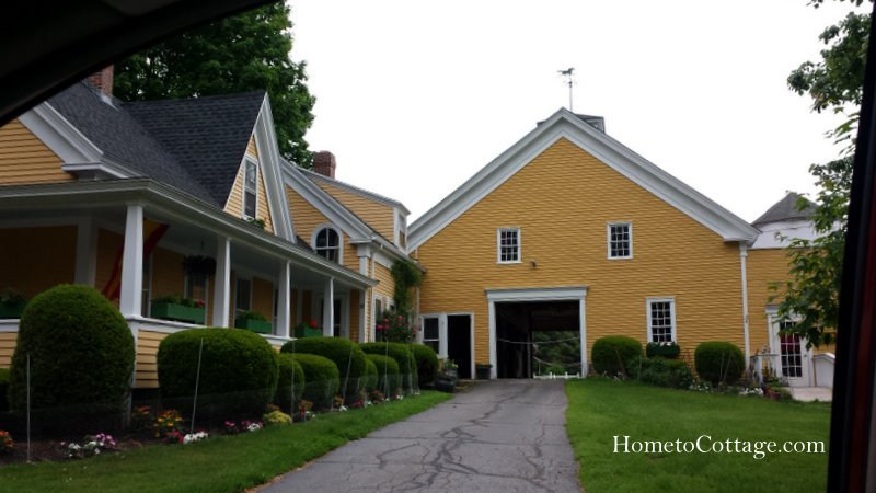 HometoCottage.com yellow house and barn