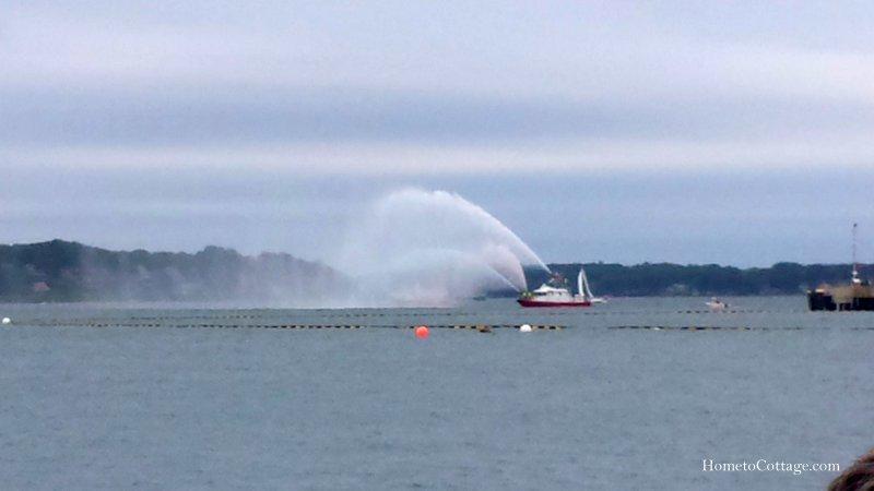 HometoCottage.com Fire Boat start parade