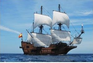 HometoCottage.com spanish galleon in full sail