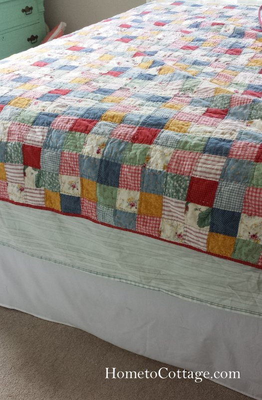 HometoCottage.com quilt that was too small for bed