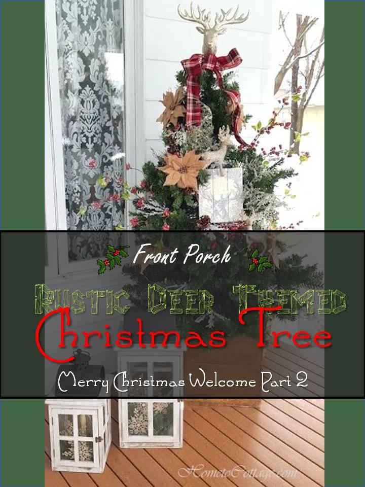 HometoCottage.com Rustic Deer Themed Christmas Tree