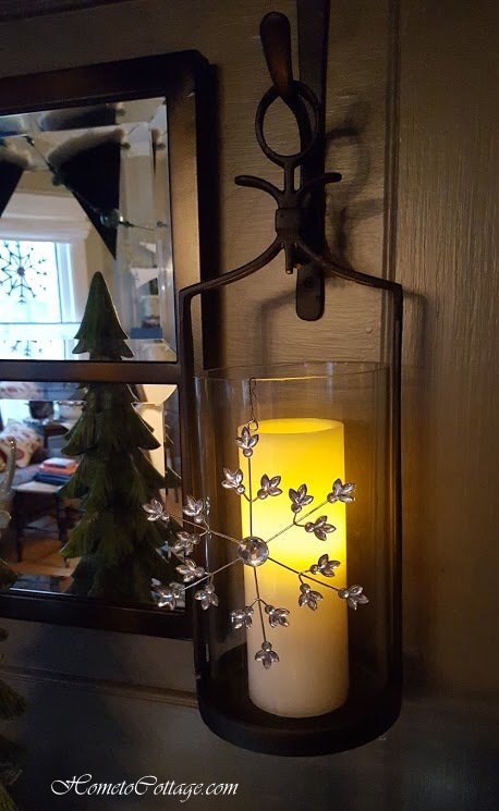 HometoCottage.com snowflakes on permanent candle lanterns