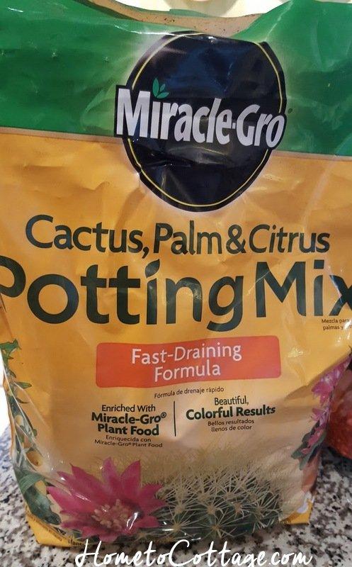 HometoCottage.com cactus potting mix for extra drainage