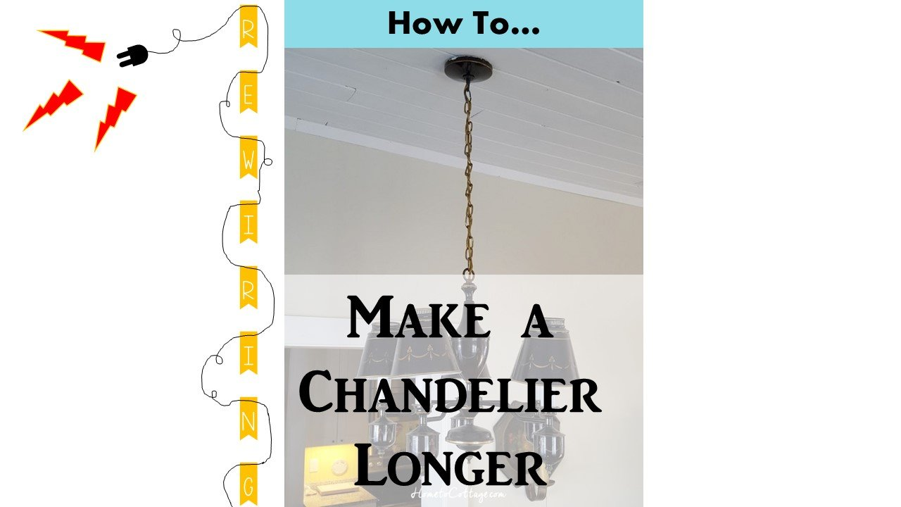HometoCottage.com How to Rewire a Chandelier