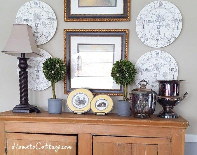 HometoCottage.com antique wainscot cupboard