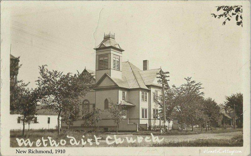 HometoCottage.com New Richmond, WI methodist church 1910