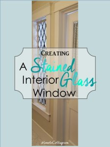 HometoCottage.com Creating an Interior Stained Glass Window