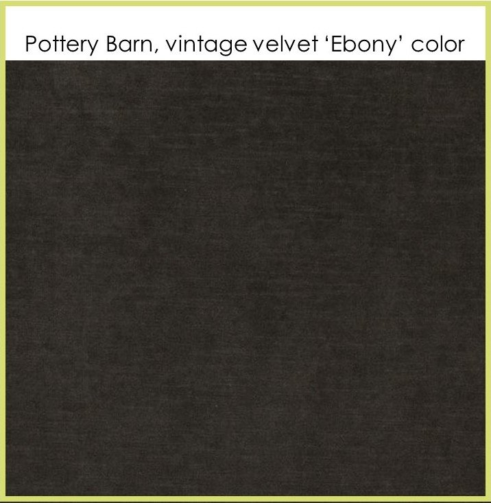 HometoCottage.com pottery barn vintage velvet ebony