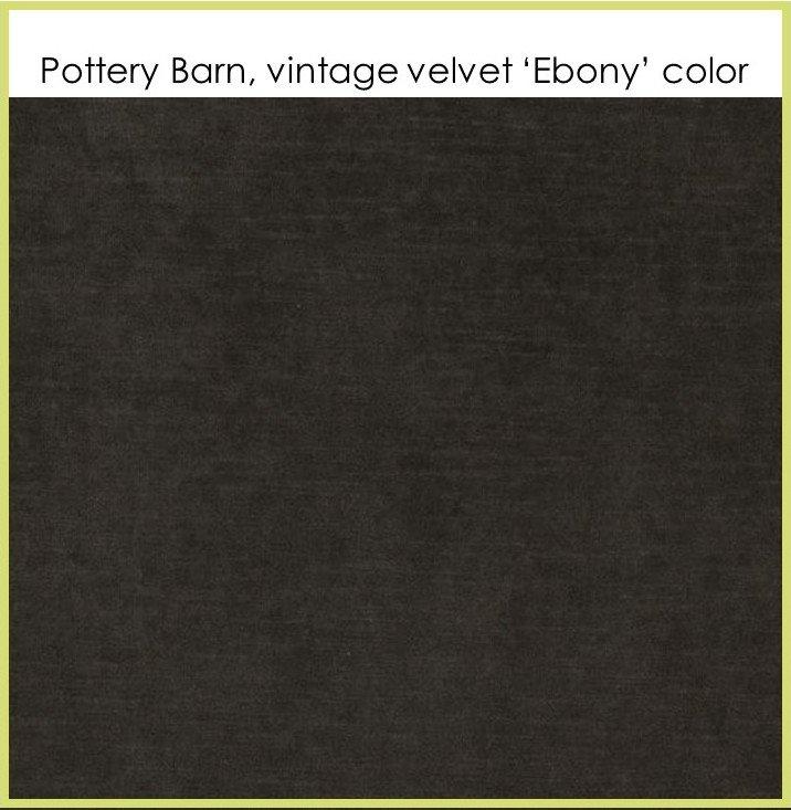 HometoCottage.com pottery barn vintage velvet ebony