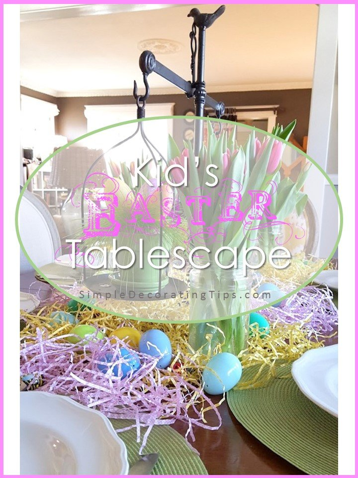 Kid's Easter Table SimpleDecoratingTips.com