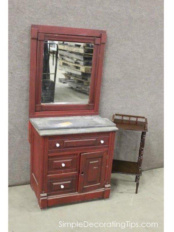 SimpleDecoratingTips.com antique cabinet before