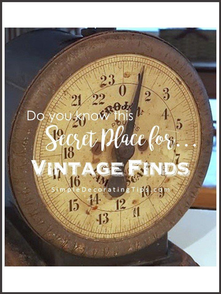 SimpleDecoratingTips.com do you know this secret place for vintage finds