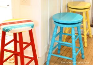 SimpleDecoratingTips.com colorful stools had to go
