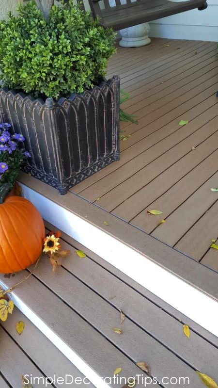 front porch composite decking SimpleDecoratingTips.com