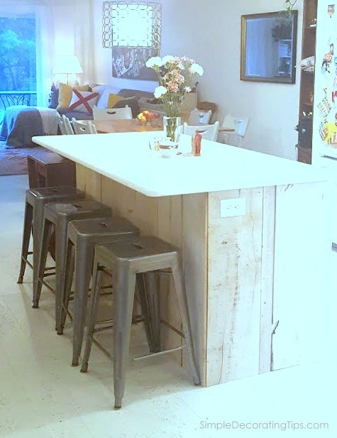 custom kitchen island feature SimpleDecoratingTips.com