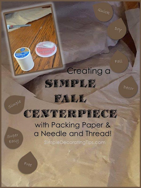 SimpleDecoratingTips.com Simple Fall Centerpiece