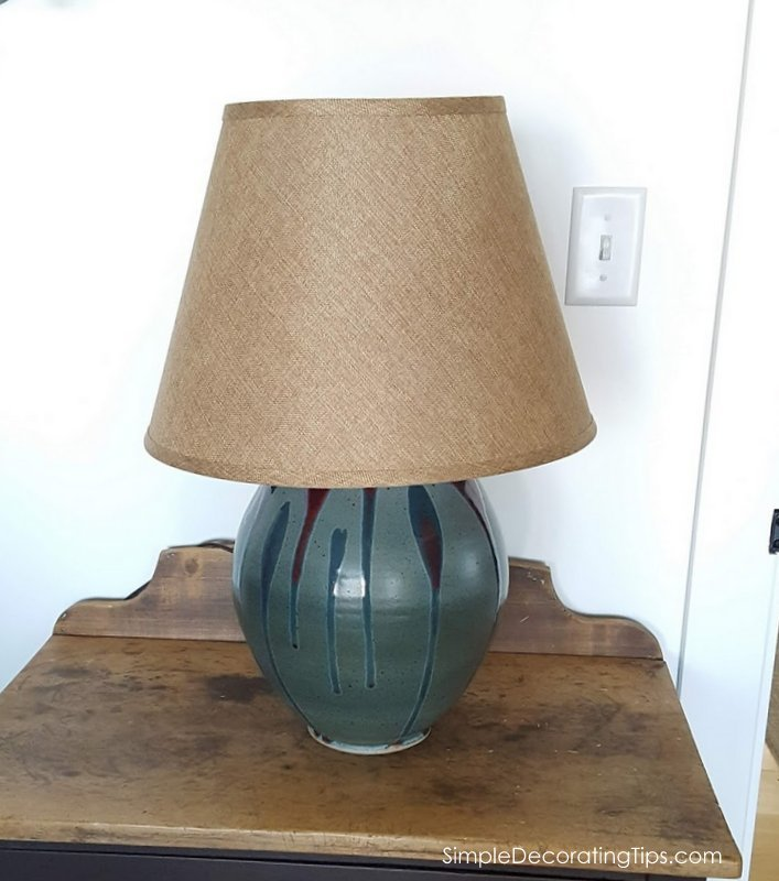 SimpleDecoratingTips.com How to Find the Right Lampshade Pottery lamp before
