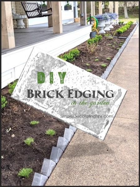 DIY Brick Edging SimpleDecoratingTips.com