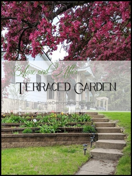 Before and After Terraced Garden simpledecoratingtips.com