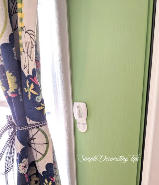 Simple DIY Curtain with vintage fabric SimpleDecoratingTips.com