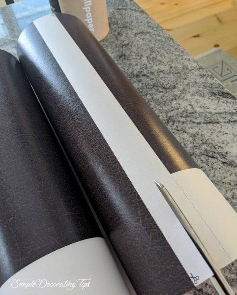 cutting wallpaper drops apart