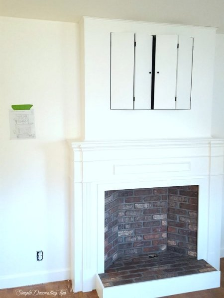 Faux Fireplace SimpleDecoratingTips.com