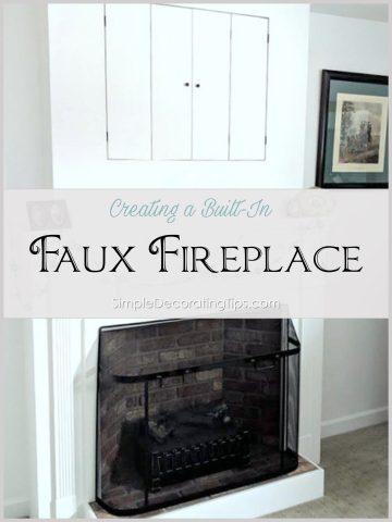 Faux Fireplace SimpleDecoratingTips.com